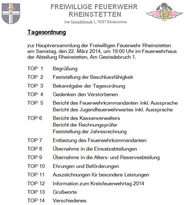 freiwillige feuerwehr rheinstetten - 10.03.2014 einladung, Einladungen