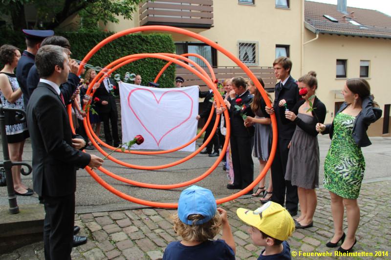 Freiwillige Feuerwehr Rheinstetten 26 07 2014 Feuerwehrhochzeit